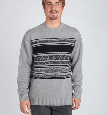 Jersei punto BILLABONG hombre cuello redondo Mayfield Warm Sweater casual Suéter Ref. BIZ1JP17 gris/grey rayas