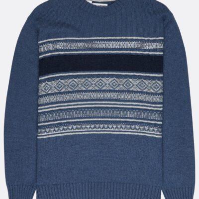 Jersei punto BILLABONG hombre cuello redondo Mayfield Warm Sweater casual Suéter Ref. BIZ1JP17 azul/blue rayas