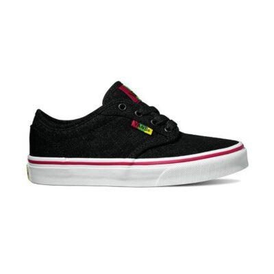 Zapatillas VANS Skate confortables chico Atwood (Rasta) Black/red Mod. VN0A349P6BI Negra Bob Marley
