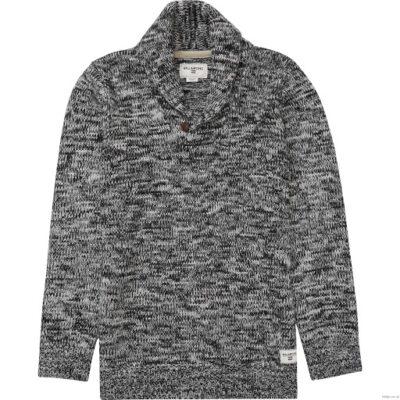 Jersei punto BILLABONG hombre cuello botón Riley Sweater casual Suéter Ref. BIZJP08 BIF6 blanco/negro