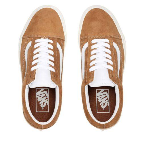 Zapatillas VANS Sneakers Skate lona chica OLD SKOOL Ref. VN0A4BV518M camel ante y lona