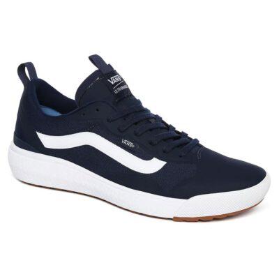 Zapatillas VANS cómodas Sneakers deporte hombre ULTRARANGE EXO Dress Blues/True White Modelo: VN0A4U1K4M0 azules con franja blanca