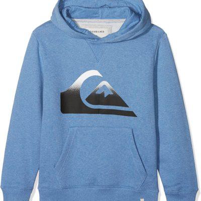 Sudadera niño Quiksilver con capucha Logo pecho Ref. EQBFT03396 bpch azul tejano claro