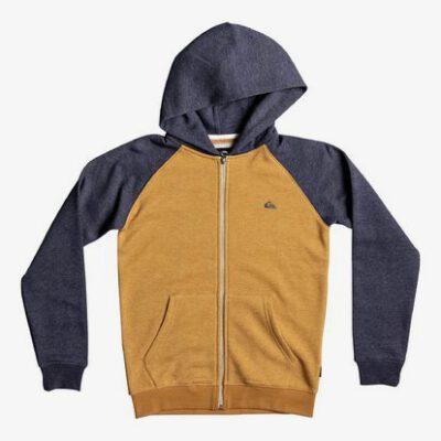 Sudadera niño Quiksilver con capucha y cremallera Everyday Sweatshirts Ref. EQBFT03394 nmvh mostaza azul