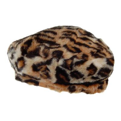 Boina Barts para mujer Astilbe de pelo sintético suave Ref. 150252 Estampado de Leopardo