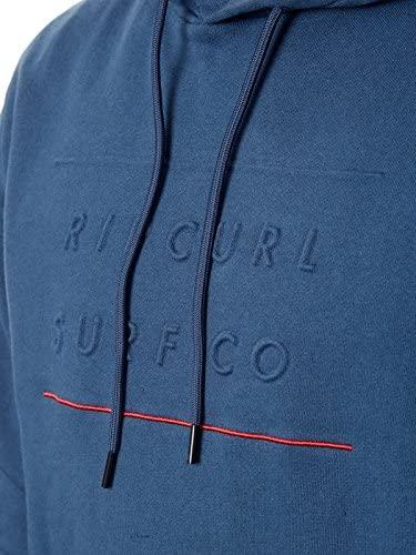 Sudadera sport embossed surf fleece hombre Rip Curl con capucha midnight navy ref CFETR4 azul oscuro