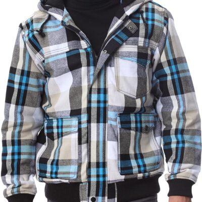 Chaqueta exterior niño QUIKSILVER con capucha Maratuna Jacket Ref. KKBJK172 Cuadros azul claro y oscuro