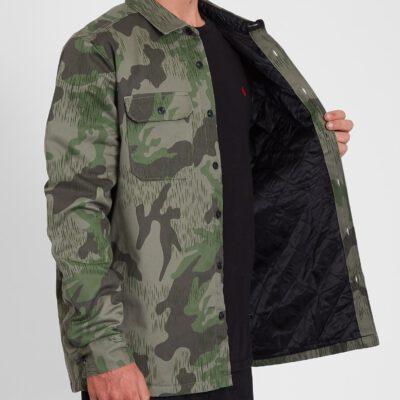Camisa VOLCOM de Manga larga Hombre CAMISA TRADEMAN - CAMUFLAJE Ref. A0532000 verde camuflaje