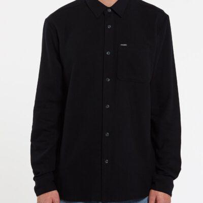 Camisa VOLCOM de Manga larga Hombre CADEN SOLID - BLACK Ref. A0532004 negra lisa básica
