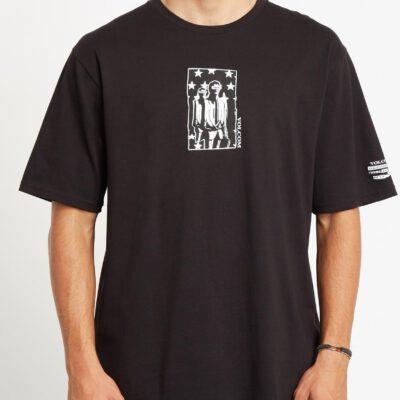 Camiseta Hombre VOLCOM manga corta CAMISETA ADGREEDMENT-BLACK Ref. A5232001 Negra