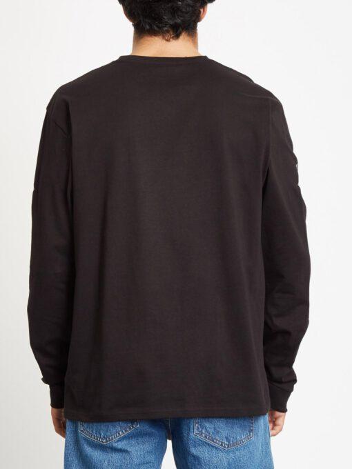 Camiseta Hombre VOLCOM manga larga MAGLIETTA DEADLY STONE Ref. A3632052 logos negra con logos diamantes manga