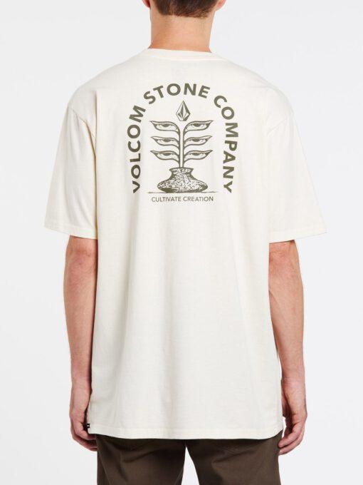 Camiseta Hombre VOLCOM manga corta CULTUREVATE - OFF WHITE Ref. A4332004 blanca natural
