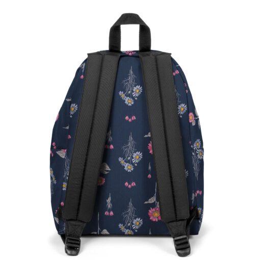 MOCHILA EASTPAK Padded Pak'r® EK620J33 Wild Navy azul flores rosa y margaritas