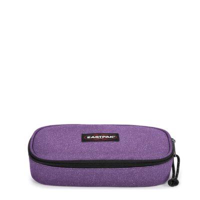 Estuche escolar Eastpak: PLUMIER OVAL EK717I83 Sparkly Petunia lila purpurina brillante