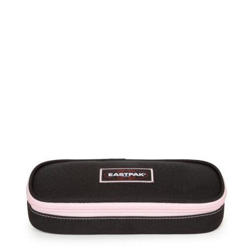 Estuche escolar Eastpak: PLUMIER OVAL EK717K34 Kontrast Sky negro con detalles rosa palo