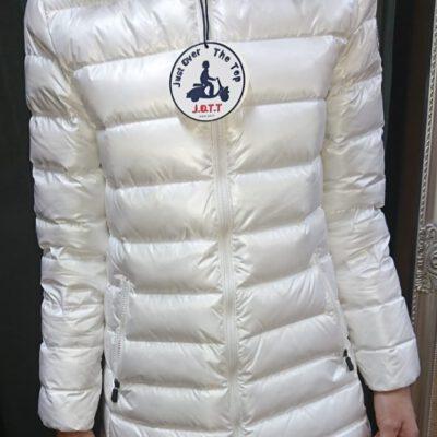 Chaqueta capucha pelo Jott de plumas Mujer GRAN FRÍO 901 Blanc LILAS LAQUEE GRAND FROID Justoverthetop blanco lacado metalizado
