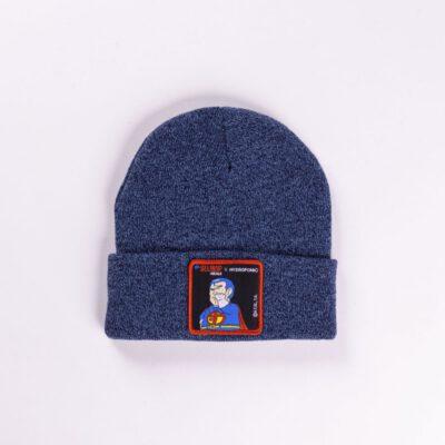 Gorro HYDROPONIC unisex bn patch Suppaman heather denim Ref. HW068P2-08 Super man azul