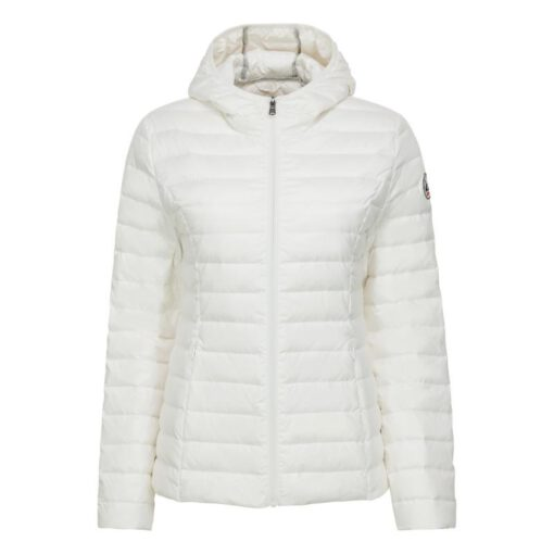 Chaqueta capucha Jott de plumas Niña Blanc 901 CARLA BASIC Justoverthetop Color blanco