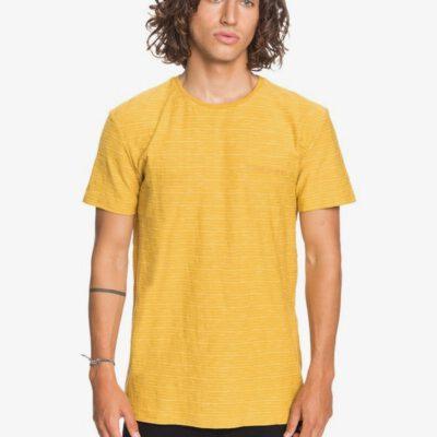 Camiseta Hombre QUIKSILVER manga corta Kentin HONEY (ylv3) Ref. EQYKT04026 mostaza amarilla rayas