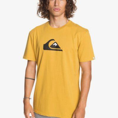 Camiseta Hombre QUIKSILVER manga corta Comp Logo HONEY (ylv0) Ref. EQYZT06060 amarilla logo básica