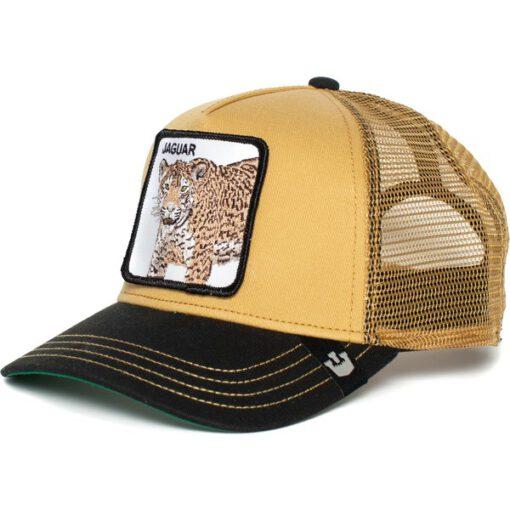 Gorra Animales GOORIN BROS BUTCH TRUCKER Puma-Jaguar Color beig visera negra