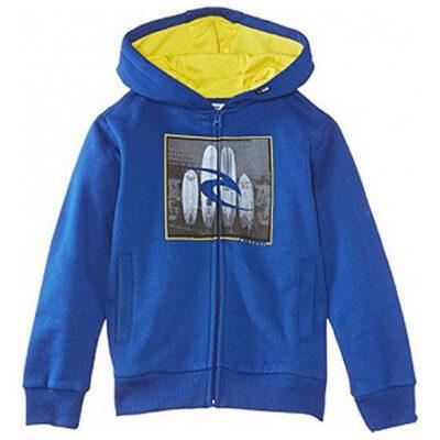 Sudadera niño Rip Curl con capucha para Chicos Ref. KFEAV4 BOARD PHOTO HZ fleece azul intenso y logo gris