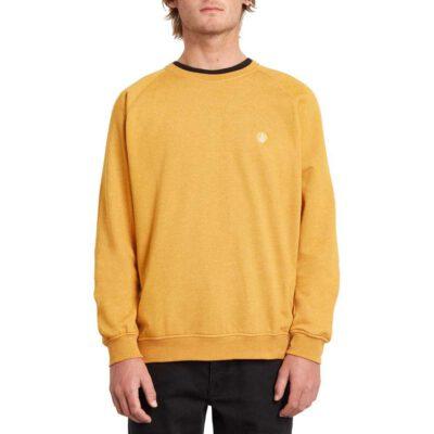 Sudadera VOLCOM Hombre cuello redondo TIMESOFT CREW IGD Ref. A4612003 amarillo mostaza