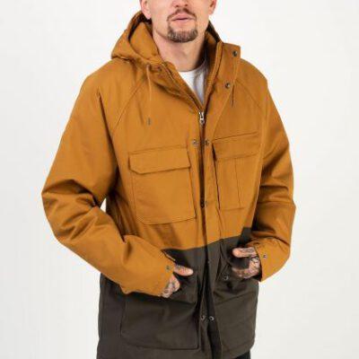 Chaqueta invierno Hombre VOLCOM con capucha Renton Winter 5K Ref. A1732014 camel y marrón verdoso