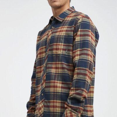 Camisa BILLABONG de Manga Larga franela Hombre Coastline MUD Ref. Q1SH04-BIF9 Cuadros azul marrón
