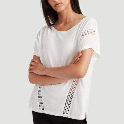 Camiseta O'NEILL Mujer cuello redondo CALI SUNSET T-SHIRT Lifestyle women Ref. 0P7304 White Blanca