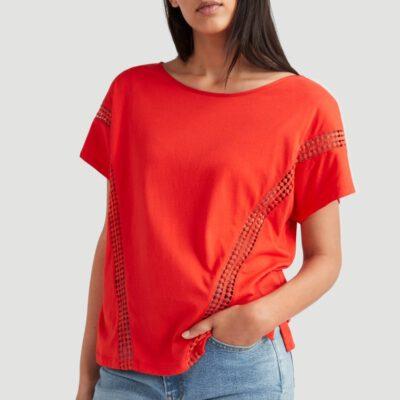 Camiseta O'NEILL Mujer cuello redondo CALI SUNSET T-SHIRT Lifestyle women Ref. 0P7304 Red Roja