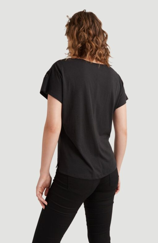 Camiseta O'NEILL Mujer cuello redondo CALI SUNSET T-SHIRT Lifestyle women Ref. 0P7304 Black Negra