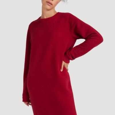 Vestido sudadera O'NEILL cuello redondo ARALIA MIDI DRESS Lifestyle women Ref. 0P8904 Red Rojo