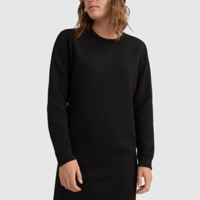 Vestido sudadera O'NEILL cuello redondo ARALIA MIDI DRESS Lifestyle women Ref. 0P8904 Black Negro