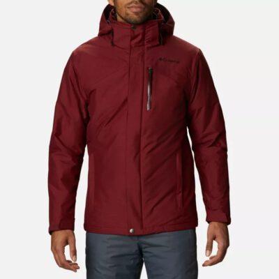 Chaqueta de Esquí COLUMBIA con capucha y aislamiento para hombre Last Tracks™ Red Jasper Melange Ref. 1909921664 Granate