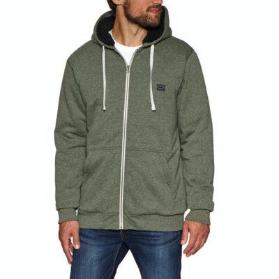 Sudadera BILLABONG hombre caliente interior borrego con capucha All Day Sherpa Zip Ref. F1FL19 Militar verde jaspeado