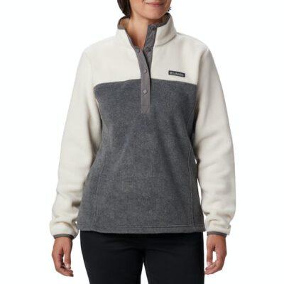Polar COLUMBIA Mujer Benton Springs Half Snap Ref. 1860991023 Blanco y gris