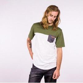 Camiseta Hombre HYDROPONIC manga corta T-SHIRT LOMAX SS CLASSIC Ref. 19024 Green Natural White verde y blanco natural
