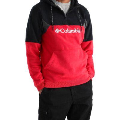 Polar COLUMBIA con capucha y logotipo estampado de Columbia para hombre Columbia Lodge™ Ref. 1918863613 rojo y negro