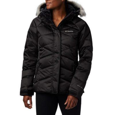 """Chaqueta esquí COLUMBIA con capucha y aislamiento Mujer cálida Lay """"D"""" Down™ II Black Ref. 1798441011 negra satinada"""