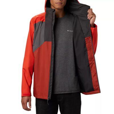 Chaqueta COLUMBIA con capucha y aislamiento para hombre invierno cálida Rain Scape™ City Grey, Wildfire, Carnelian Red Ref. 1889276023 rojo y gris