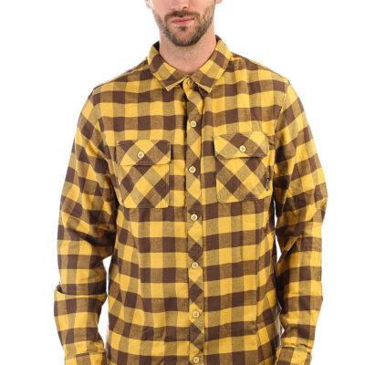 Camisa BILLABONG de Manga Larga franela Hombre All Day Flannel Ref. F1SH07-BIF7 Cuadros mostaza
