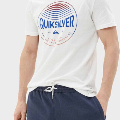 Camiseta Hombre QUIKSILVER manga corta Clours In Stereo white (wbl0) Ref. EQYZT05742 blanca logo pecho