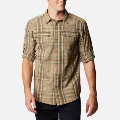Camisa COLUMBIA manga larga transpirable hombre Silver Ridge ™ 2.0 Ref. 11838915243 cuadros camel y grises