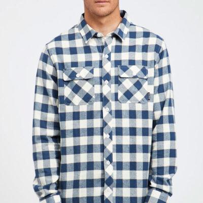 Camisa BILLABONG de Manga Larga franela Hombre All Day Flannel Birch Ref. Q1SH03 BIF9 Cuadros azules