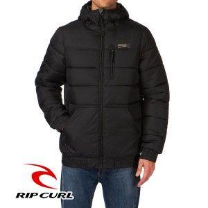 Chaqueta invierno Rip Curl hombre Urbana acolchada con capucha cálida LONG PUFFER JACKET Ref. CJKPGU negra