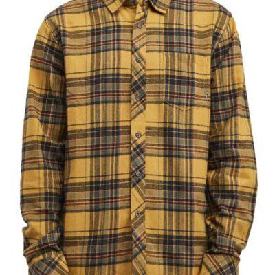 Camisa BILLABONG de Manga Larga franela Hombre Coastline Ls Gold Ref. U1SH12 BIF0 Cuadros amarillos mostaza