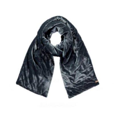 Bufanda Barts cálida terciopelo suave para mujer CLEO SCARF Ref. 3943019 Dark Grey gris oscuro
