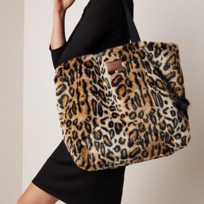 Bolso grande Barts OLYMPUS SHOPPER de piel sintética leopard medida XL Ref. 4449020 animal print