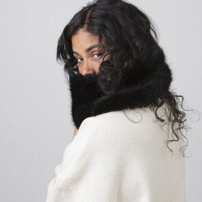 Bufanda/Cuello Barts cálida de pelo sintética para mujer MICKELLE COL Black Ref. 4969001 negro